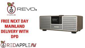 REVO SuperSystem DAB+ FM Radio Bluetooth Internet Radio USB Walnut/Silver
