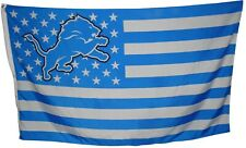 Detroit Lions 3x5 Ft American Flag Football  New In Packaging