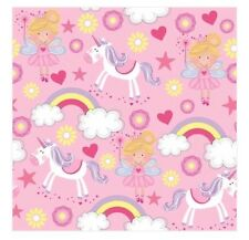 Unicorn Fairy Pink Paper Napkins Birthday Party Tableware Princess Castle