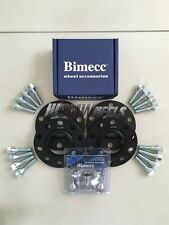2x12mm + 2x15mm Black Alloy Wheel Spacers Silver Bolts Locks BMW E90 E92 E93 M3