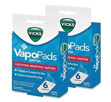 Vicks VapoPads Refill Pads VSP-19 Menthol Vapor 6ct box ( 2 pack )