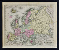 1887 Cowperthwait Map - Europe France Italy Germany Spain Britain Russia Norway