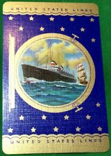 Playing Cards Swap Card Old Vintage UNITED STATES LINES Shipping Cruise Liner 2