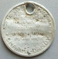 Charms Candy Presidents Coin Token Theodore Roosevely 1930s Exonumia