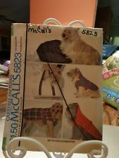 McCall's CareFree Patterns 5823 Doggie Coats Vintage  UNCUT