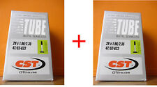 """2 Camera d'aria CST 29""""x1,9/2,35 V. Presta 48mm x Bici 29"""" MTB Mountain Bike"""