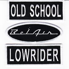 OLD SCHOOL CHEVY BEL AIR LOWRIDER SEW/IRON ON PATCH EMBLEM BADGE EMBROIDERED CAR