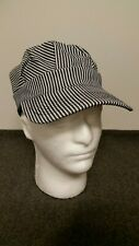 Railroad Engineer Striped Hat. Adult Size. Perfect for your RR patches or Pins