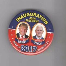 #4  2017 pin DONALD TRUMP pinback INAUGURATION + Mike PENCE January 20