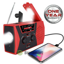 Emergency Solar Hand Crank Weather Radio 2200mAh Power Bank Charger Flash Light