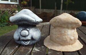 Smiley Mushroom > latex mould to make garden ornament statue concrete