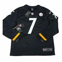Pittsburgh Steelers Ben Roethlisberger Long Sleeve Thermal Jersey Mens Sz Large
