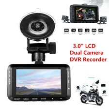 """3.0"""" LCD Motorcycle HD Action Camera Video DVR Recorder Front & Rear Dual Camera"""