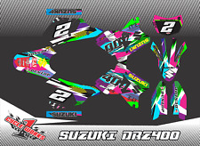 Suzuki DRZ400 DRZ 400 SM SUPERMOTO SEMI CUSTOM GRAPHICS KIT DEKO