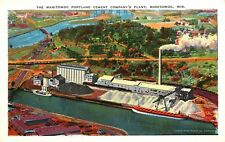 MANITOWOC PORTLAND CEMENT COMPANY, WISCONSIN, VINTAGE POSTCARD