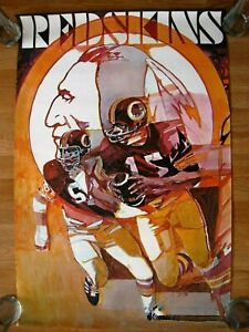 RARE AUTHENTIC 1972 NFL BARTELL SERIES STANCRAFT POSTER WASHINGTON REDSKINS!!