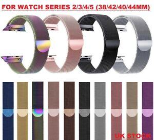 Metal Milanese Loop Band Strap For Apple Watch Series SE/6/5/4/3/2 38/40/42/44mm