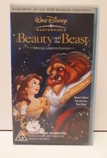 Walt Disney Masterpiece Beauty and the Beast Special Limited Edition VHS Video