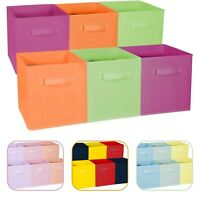 Foldable Storage Cube Basket Bin - Great for Nursery, Playroom Closet & Shelves