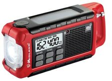 Midland ER200 Emergency AM/FM Weather Crank Solar Radio w/ LED Flashlight + USB