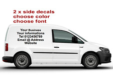 2 x Each Small Custom / Van Vehicle Sign / Stickers Writing Kit Lettering Decals