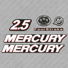 Mercury 2.5 hp Four Stroke outboard engine decals sticker set reproduction 2.5HP