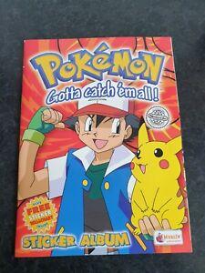Merlin Pokemon Series 1 Sricker Album 100% Complete + Sticker Backs + Spares