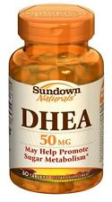 Sundown Naturals DHEA 50 mg Tablets 60 Tablets (Pack of 4)