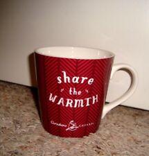 Caribou Coffee Logo SHARE the WARMTH Design 16Oz Ceramic Coffee Mug Cup RED NEW