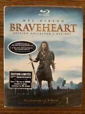 Braveheart (Blu-ray Disc, Limited Ed.) w/ Slipcover French Import New Rare Oop
