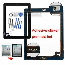 For IPAD 2 Black Replacement Touch Screen Digitizer Front Glass With Home Button