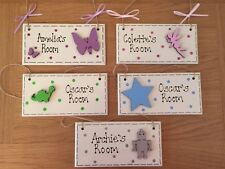 Children's Bedroom/Playroom Door Plaque Personalised Boy Girl Various Designs