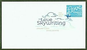 US 2017 SC 5155 LOVE SKYWRITING FIRST DAY COVER DIGITAL COLOR USED