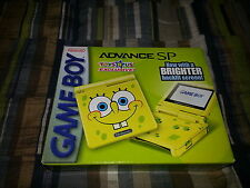 Nintendo Game Boy Advance SP GBA SP LE SpongeBob Yellow System Complete CIB RARE