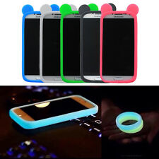 New Universal Glow-in-the-Dark Silicone Bracelet Ring Phone Bumper Case Cover