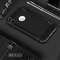 Suave Fibra de Carbono Silicona Sintético Funda Parte Trasera para Iphone X 8 7