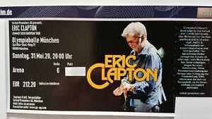 Eric Clapton 02.06.2022 Olympiahalle München direkt an der Bühne - neuer Termin!