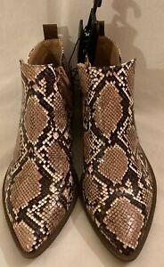 Womens Faux Snakeskin Memory Foam Boots Size 7 New