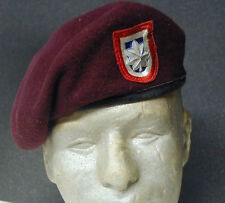 82nd Airborne Div MAROON BERET paratrooper parachute badge insignia Cmd Officer