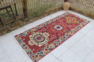 """Vintage Handmade Turkish Oushak Soumak Kilim Rug 6'5""""x2'9"""""""