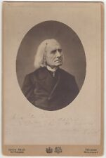 Franz Liszt (composer) – Signed cabinet photograph inscribed to his housekeeper