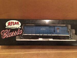 HO Atlas Classic Boston & Maine EMD GP7 Powered Diesel Locomotive B&M #1559
