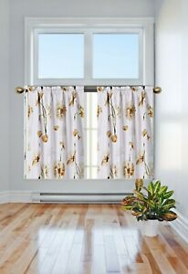 1PC PANEL LINED BLACKOUT WINDOW FLORAL PRINTED CURTAIN ROD POCKET