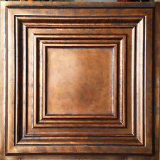 Ceiling tiles Archaic coppery faux tin backdrop cafe club panel PL05 10tile/lot