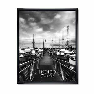 Set of 12 - 4x6 Black Plastic Frames with Glass & Easel Backing