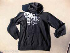 New! Dc Shoes Logo Hoody Jacket Sweatshirt Black Grey Boy'S Xl