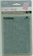 CUTTLEBUG 4.25 x 5.75 embossing folder SPOTS & DOTS 37-1145