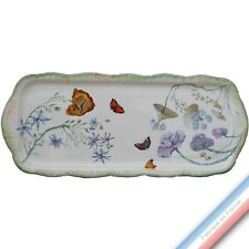 Collection FOLIES BOTANIQUES - Plat cake Louis XV - 38,5 x 16 cm -  Lot de 1