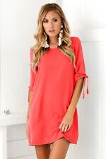 Plus Size Womens Summer Blouse Long Tops T Shirt Casual Loose Beach Mini Dress