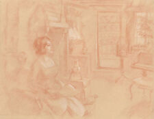 Figures Modern (1900-1979) Date of Creation Art Drawings